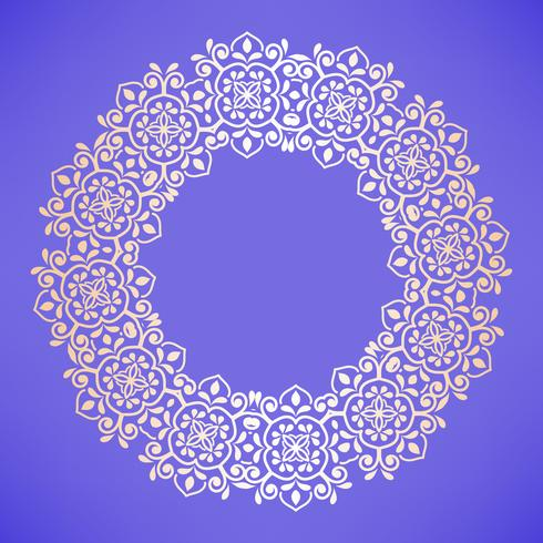 Modèle arabe circulaire. Ornement baroque rond