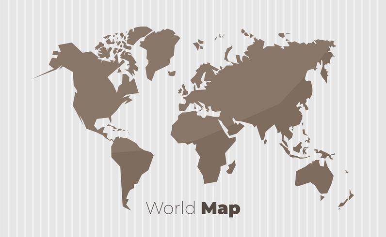 Mappa del mondo in stile vintage
