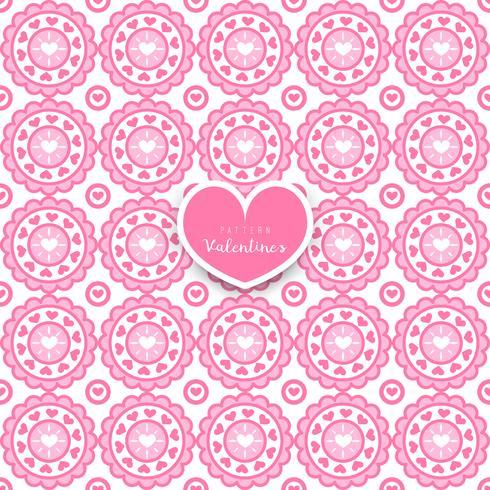 Motif géométrique sans couture avec coeurs décoratifs