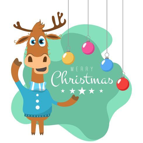Natal, fundo, com, rena