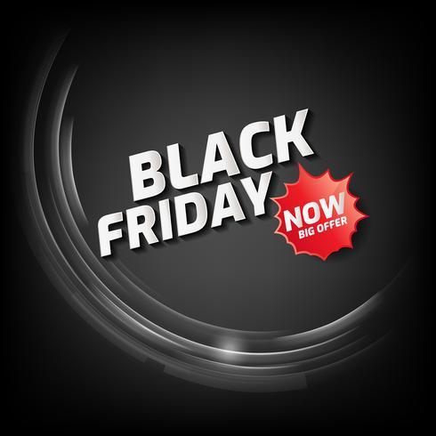 Bannière Black Friday Sale avec lumière abstraite