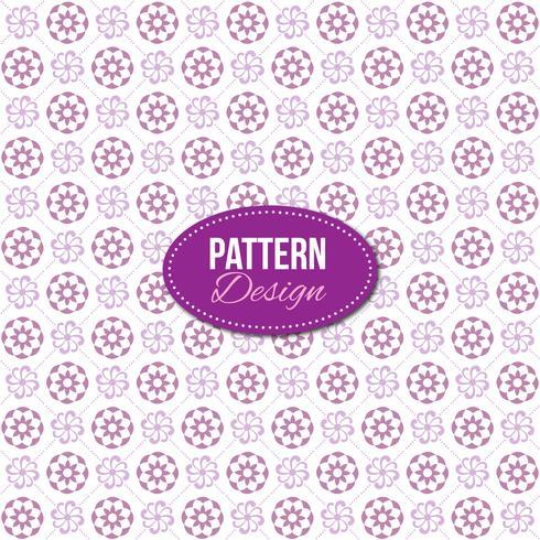Motif violet avec mandala et motifs floraux