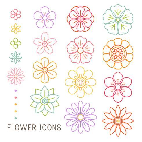 Vettore di bellissimi fiori