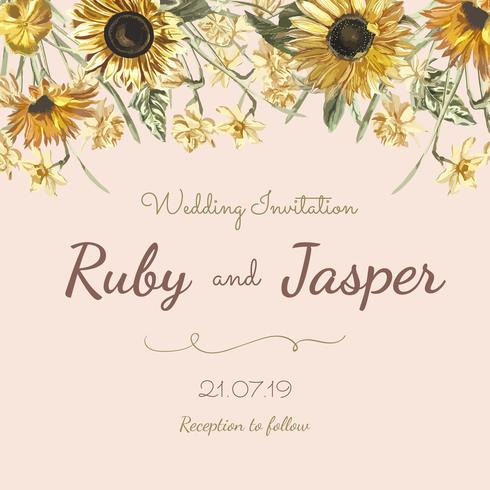 Floral themed invitation designs