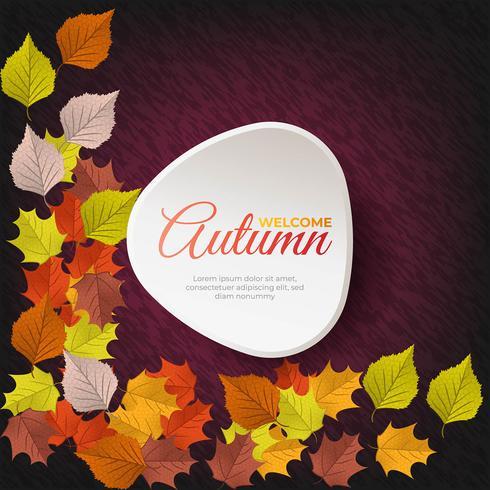 Vector Bienvenido fondo de otoño