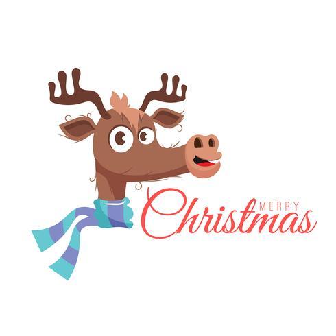Tekening van rendieren voor Kerstmis