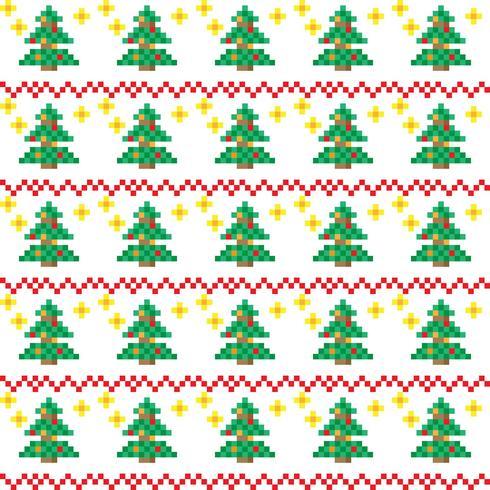 Motifs De Noël Dans Un Style Pixel Art Telecharger