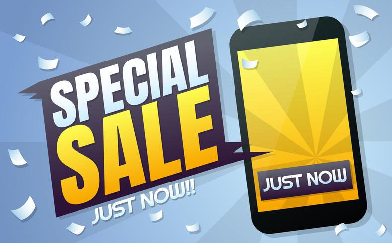 Phone Sale Vector background