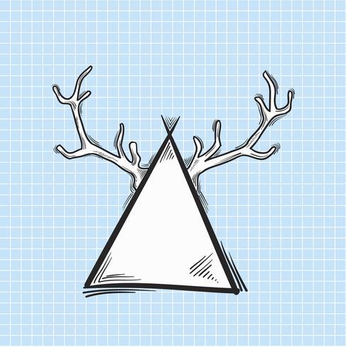 Vettore di antler sul triangolo