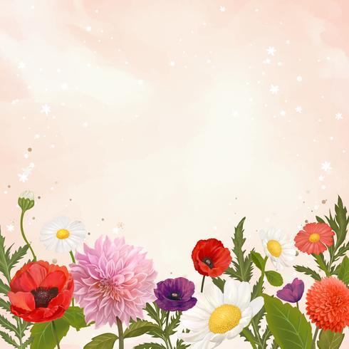 Marco de flores silvestres