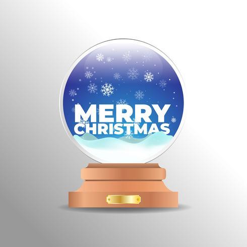 Realistisk jul snö jordklot bakgrund