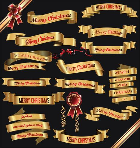 merry Christmas ribbons