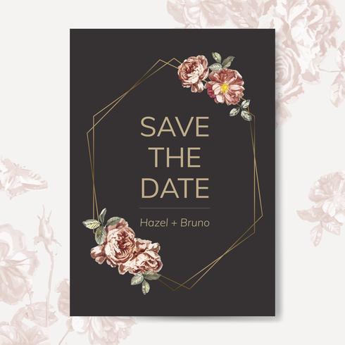 Disegni di invito a tema floreale