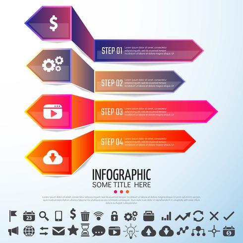 Pijl Infographics ontwerpsjabloon