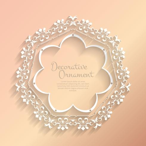Vintage bloeien ornament frame