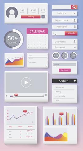 Divers vecteur de conception d'interface de site Web