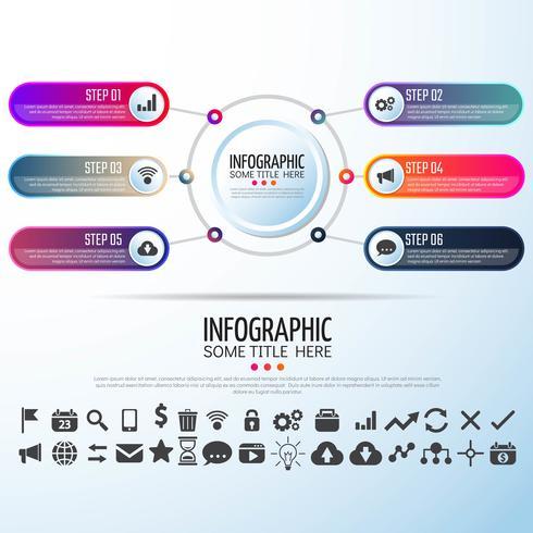 Cirkel Infographics ontwerpsjabloon
