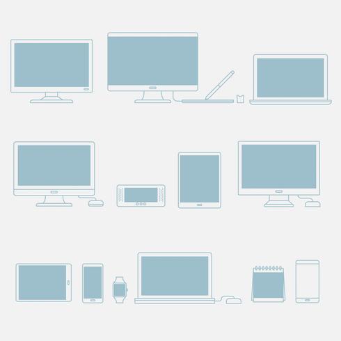 Vektorsatz digitale Geräte