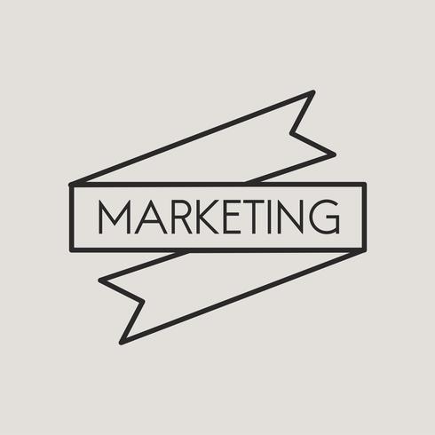 Ilustración de banner de marketing