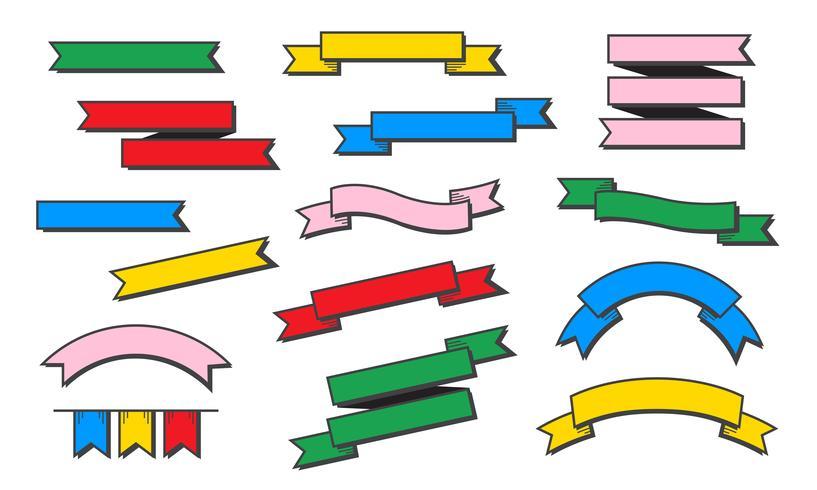 Vetor de bandeiras de estilo diferente