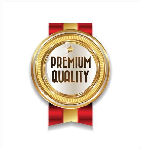 Distintivo d'oro di lusso premium