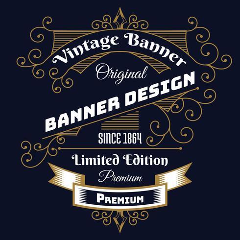 Modello di progettazione stile etichetta vintage background