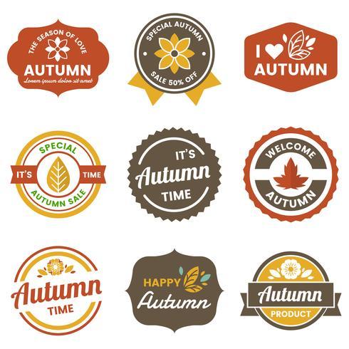 Autumn Label Vintage Vector Logo per banner