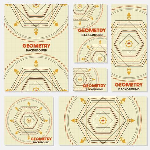 Fondo de estilo vintage de geometría retro antigua plantilla de diseño