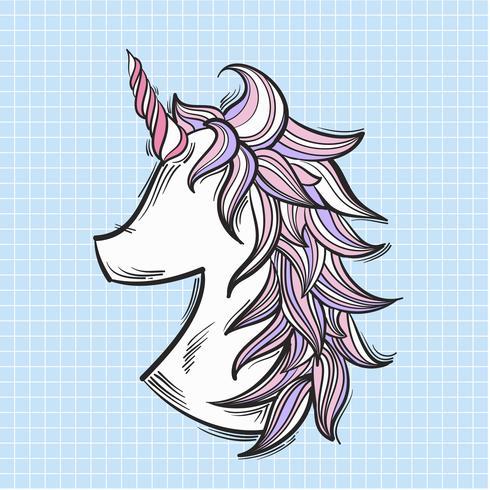 Unicorno illustrazione isolato su sfondo