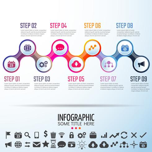 Infographics Design Mall vektor
