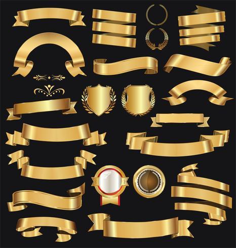 Retro goldene Bänder vektor