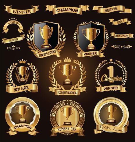 trophy badge vector