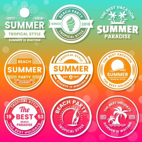 Verano Retro Vector Logo para banner