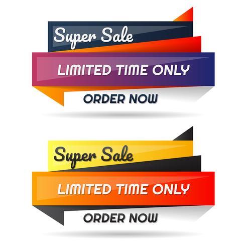 Modèle de conception de bannière de vente
