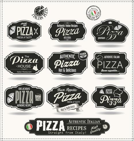conception de pizza vecteur