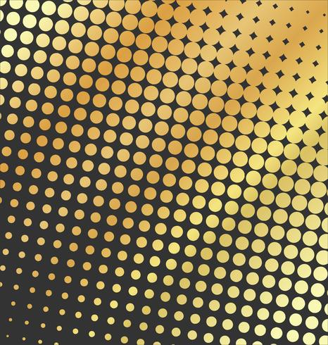 Abstract dotted vector golden background halftone effect