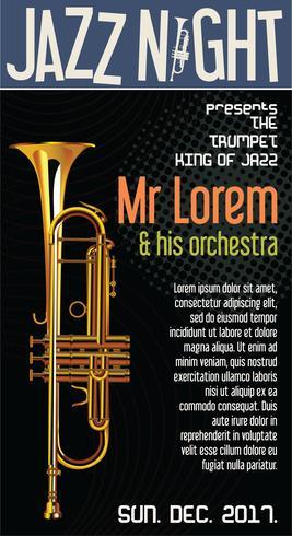 Illustration vectorielle de Poster Jazz Festival Trumpet vecteur
