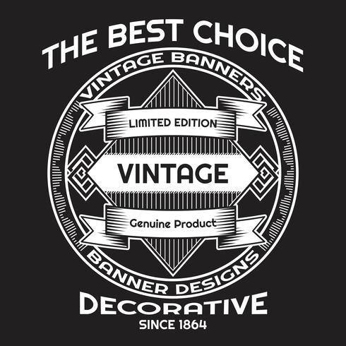 Modèle de conception de style vintage fond lable