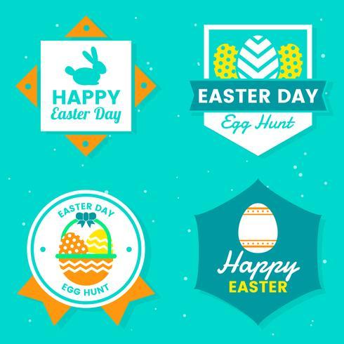 Logo vettoriale di giorno di Pasqua per banner