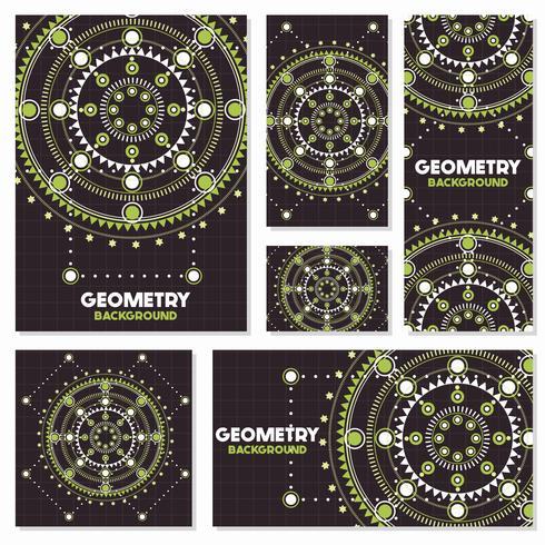 Vecchia retro geometria Modello di progettazione del fondo di stile dell'annata