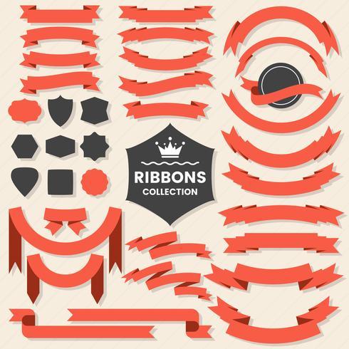 Ribbon Vintage Vector Logo for banner