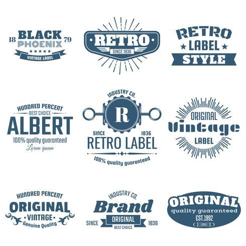 Logo vettoriale retrò vintage per banner