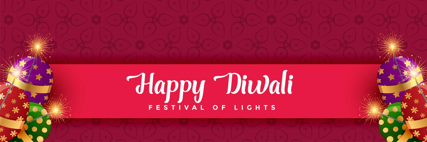 happy diwali crackers background design
