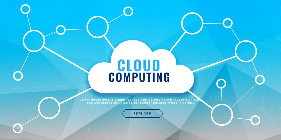 cloud computing banner design concept
