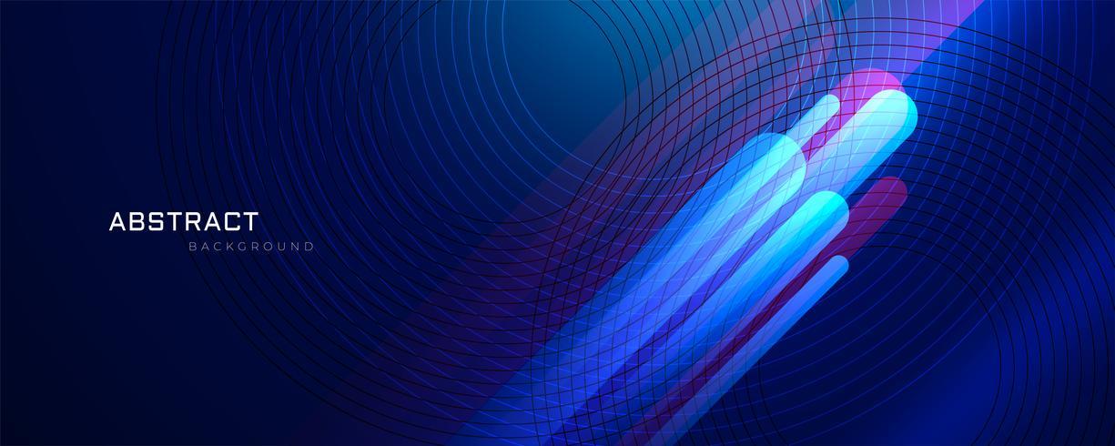 Resumen fondo azul con líneas brillantes