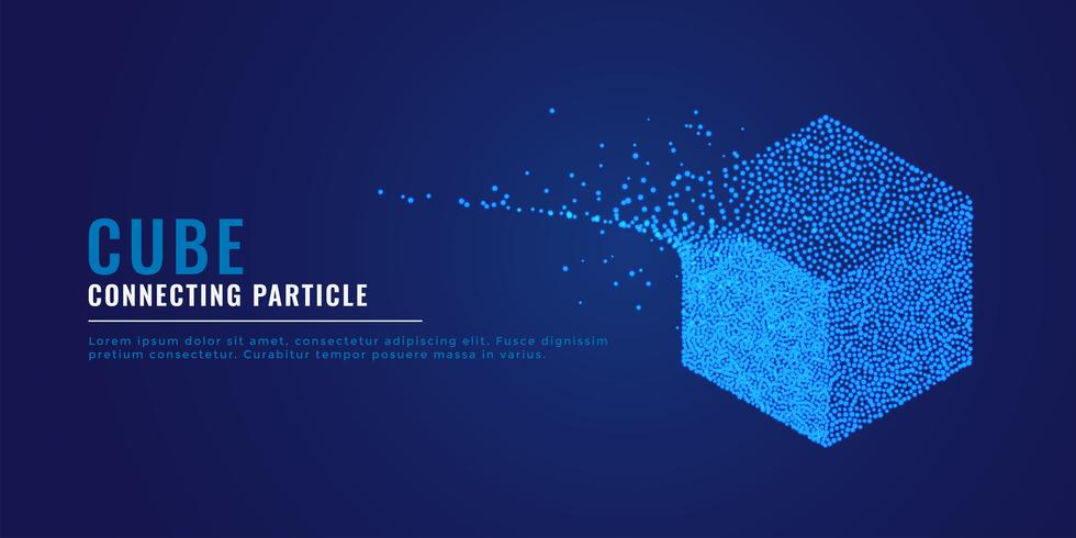 Fond de système de particules 3d cube