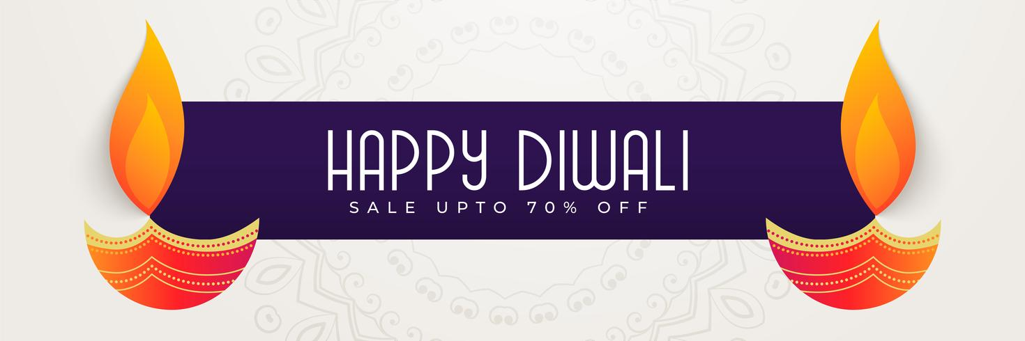 feliz diwali banner design para a temporada de festivais