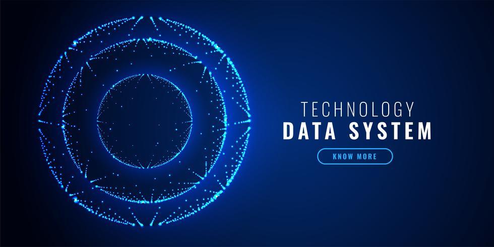 futuristic circle dots technology background