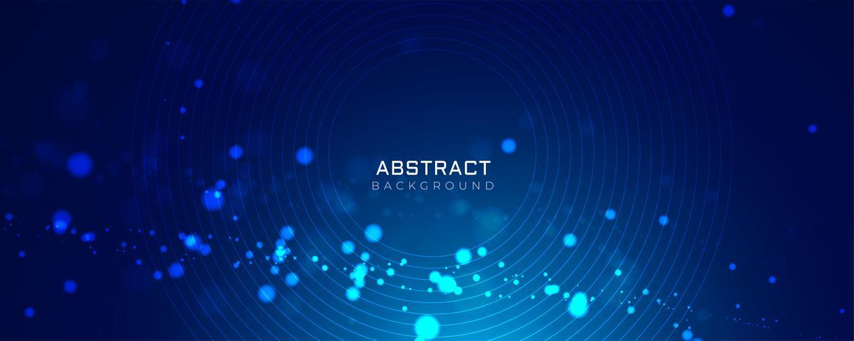 sfondo blu con stile incandescente puntini bokeh