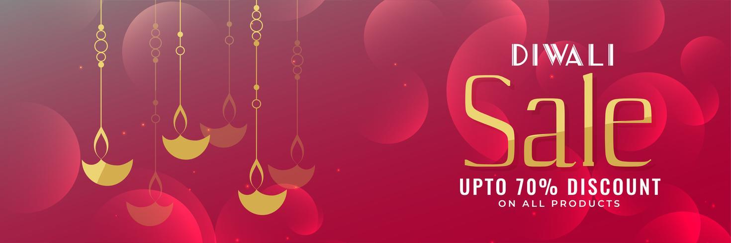 shiny diwali festival sale banner design